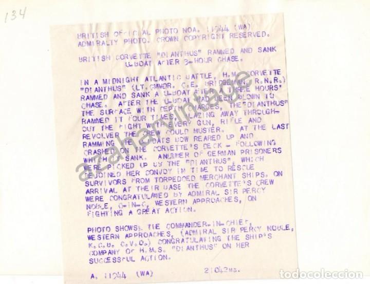 Militaria: WWII, EL ALMIRANTE SIR PERCY NOBLE ,COMANDANTE EN JEFE DE LA MARINA,SALUDANDO A LAS TROPAS - Foto 2 - 111038147