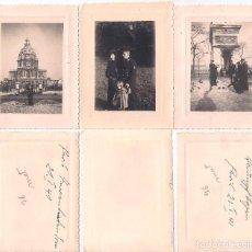 Militaria: 3 X FOTOGRAFÍAS TRIPULACIONES DE LA KRIEGSMARINE EN PARIS (1939 - 1945). Lote 111296183