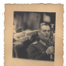 Militaria: WILHEM KEITEL MARISCAL DEL REICH ALEMÁN. FOTOGRAFÍA ORIGINAL AGFA LUPEX. Lote 111823371