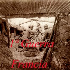 Militaria: PRIMERA GUERRA MUNDIAL - AMETRALLADORA - FRANCIA - POSITIVO DE VIDRIO . Lote 111783307