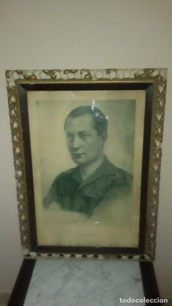 RETRATO ENMARCADO JOSE ANTONIO PRIMO DE RIVERA (Militar - Fotografía Militar - Guerra Civil Española)