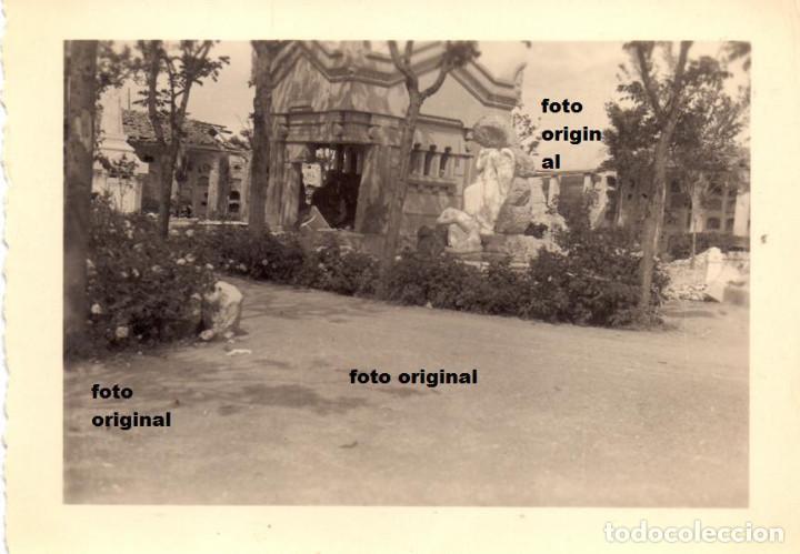 DESTROZOS CEMENTERIO TERUEL 1938 GUERRA CIVIL LEGION CONDOR (Militar - Fotografía Militar - Guerra Civil Española)