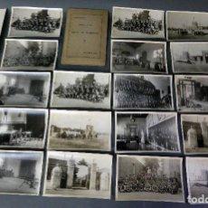 Militaria: 20 FOTOGRAFÍAS CABALLERÍA ESCUELA DE TIRO CURSO CAPITANES OCTUBRE 1925. Lote 112229875