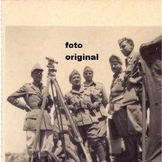 Militaria: OFICIALES CTV DIVISION LITTORIO ROYUELA(TERUEL) BATALLA DEL LEVANTE SIERRA ALBARRACIN GUERRA CIVIL. Lote 112332467