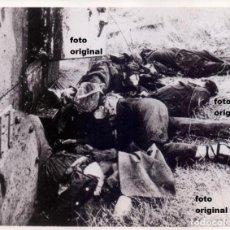 Militaria: MILICIANOS BLINDADO AMETRALLADORA BILBAO 1932 CARRETERA TALAVERA-TOLEDO GUERRA CIVIL. Lote 112343991