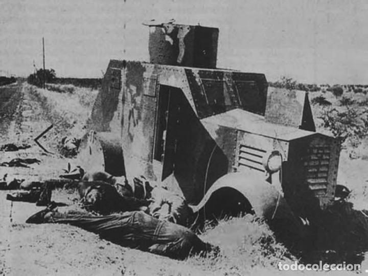 Militaria: MILICIANOS BLINDADO AMETRALLADORA BILBAO 1932 CARRETERA TALAVERA-TOLEDO GUERRA CIVIL - Foto 3 - 112343991