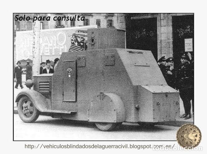 Militaria: MILICIANOS BLINDADO AMETRALLADORA BILBAO 1932 CARRETERA TALAVERA-TOLEDO GUERRA CIVIL - Foto 4 - 112343991