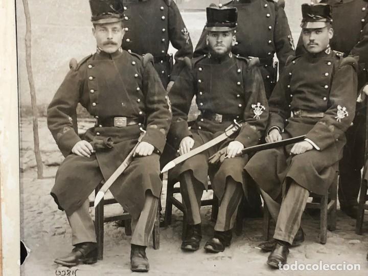 Militaria: fotografia militares gastadores zapadores infanteria alfonso XIII ppio S XX 27 x 16 cm - Foto 8 - 112522003