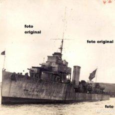 Militaria: DESTRUCTOR REPUBLICANO JOSE LUIS DIEZ SEPTIEMBRE 1937 FALMOUTH(INGLATERRA) GUERRA CIVIL. Lote 112538795