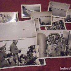 Militaria: GUERRA CIVIL.19-20/5/1937.TRASLADO EN BARCO TROPAS 1ª COMPAÑÍA DE ASALTO DESDE VALENCIA A BARCELONA.. Lote 112794939