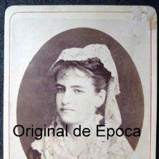 Militaria: (JX-180290)FOTOGRAFÍA DE JUANITA GAMIR,HIJA DEL TENIENTE GENERAL Y GOBERNADOR DE PUERTO RICO 1857-60. Lote 112959779