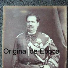 Militaria: (JX-180291)FOTOGRAFÍA CORONEL D.JOSE DIAZ MEÑO YERNO DEL GOBERNADOR PUERTO RICO 1857-60 FILIPINAS. Lote 112960431