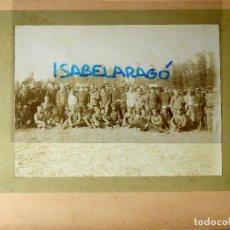Militaria: FG-314. REGIMIENTO LANCEROS DE LA REINA, FOTO DE GRUPO CON JEFES, OFICIALES Y SOLDADOS. AÑO 1903.. Lote 112983259
