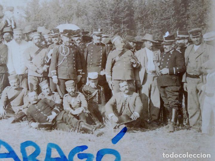 Militaria: FG-314. REGIMIENTO LANCEROS DE LA REINA, FOTO DE GRUPO CON JEFES, OFICIALES Y SOLDADOS. AÑO 1903. - Foto 3 - 112983259