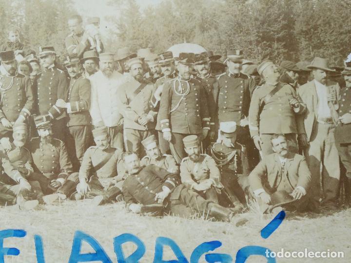 Militaria: FG-314. REGIMIENTO LANCEROS DE LA REINA, FOTO DE GRUPO CON JEFES, OFICIALES Y SOLDADOS. AÑO 1903. - Foto 4 - 112983259