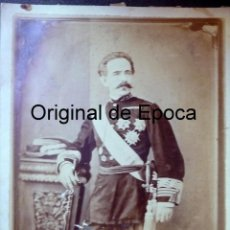 Militaria: (JX-180222)FOTOGRAFÍA TENIENTE GENERAL ESTADO MAYOR Y GOBERNADOR PUERTO RICO 1857-60 D.SABINO GAMIR. Lote 113071491