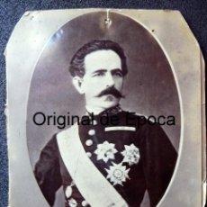 Militaria: (JX-180223)FOTOGRAFÍA TENIENTE GENERAL ESTADO MAYOR Y GOBERNADOR PUERTO RICO 1857-60 D.SABINO GAMIR. Lote 113071747