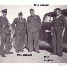 Militaria: PILOTOS ITALIANOS AVIACION LEGIONARIA AERODROMO ESPAÑOL 1937 GUERRA CIVIL. Lote 113094083