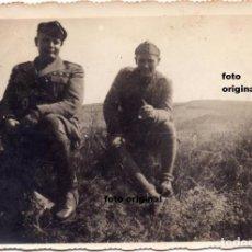 Militaria - OFICIALES ITALIANOS FIAMME NERE CTV 1937 CERCA HARO(LOGROÑO) GUERRA CIVIL ESPAÑOLA - 113237051