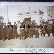 Militaria: (JX-180243)FOTOGRAFIA LLEGADA DE LAS TROPAS DE AFRICA1909,GENERAL VALERIANO WEYLER.MIRAR REVERSO. Lote 113275847