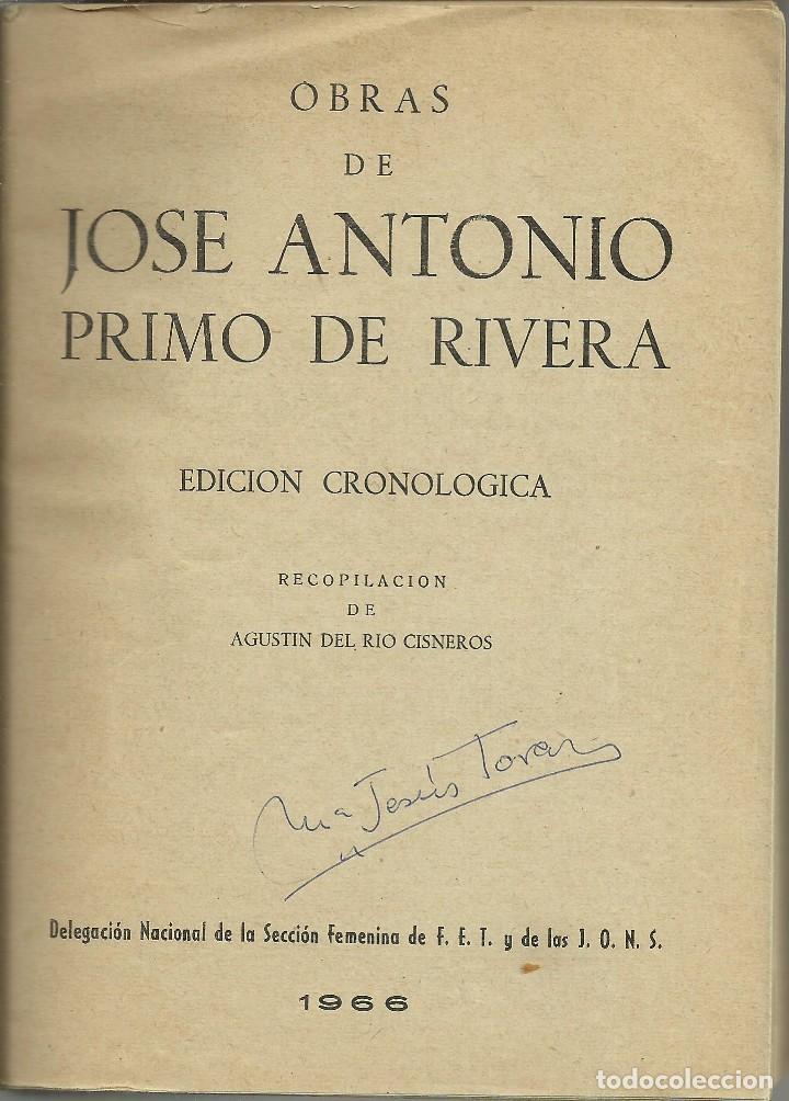 Militaria: Textos completos de Jose Antonio Primo de Rivera - Foto 2 - 113404655