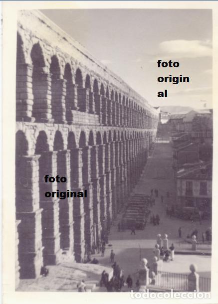 SOLDADOS LEGION CONDOR ACUEDUCTO SEGOVIA 1937 GUERRA CIVIL (Militar - Fotografía Militar - Guerra Civil Española)
