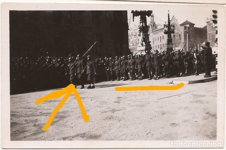 FOTO DESFILE GUERRA CIVIL BARCELONA LEGION CONDOR PALAU ROBERT POMPEIA (Militar - Fotografía Militar - Guerra Civil Española)