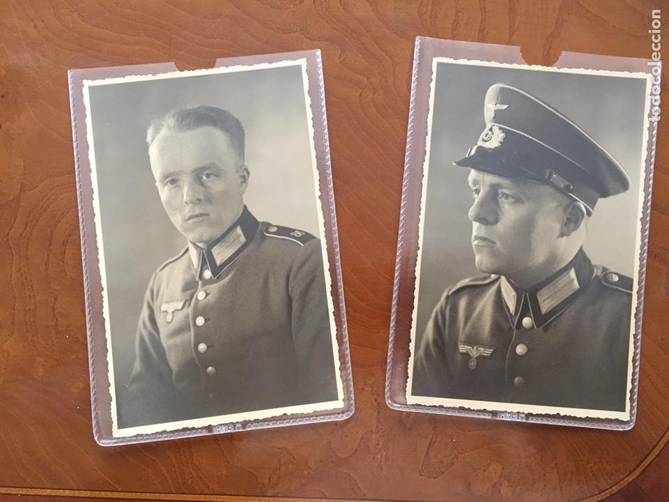 DOS FOTO POSTALES DE ESTUDIO III REICH (Militar - Fotografía Militar - II Guerra Mundial)