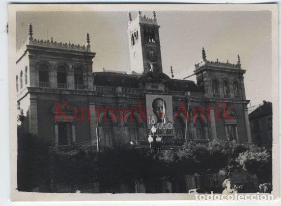 VALLADOLID GUERRA CIVIL FRANCO LEGION CONDOR AYUNTAMIENTO (Militar - Fotografía Militar - Guerra Civil Española)