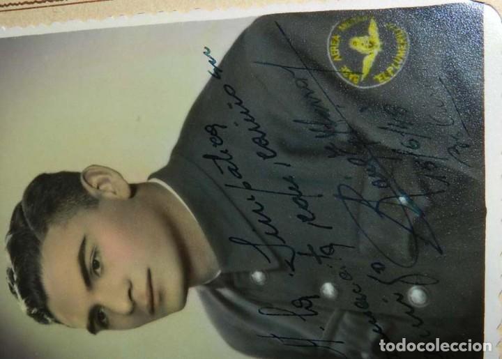 Militaria: FOTOGRAFIA DE AVIADOR, BASE AEREA MILITAR EL PLUMERILLO, MENDOZA, ARGENTINA, DEDICADA Y FIRMA AUTOGR - Foto 3 - 113857179
