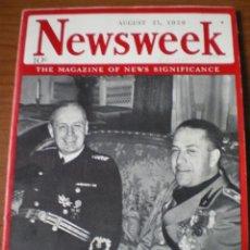 Militaria: REVISTA DE ÉPOCA (1939)NEWSWEEK CON FOTOGRAFÍAS Y ARTICULOS DE LA SEGUNDA GUERRA MUNDIAL. Lote 113990235