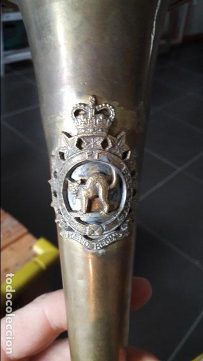 Militaria: Ontario Regiment, Canada, Cornetin antiguo. Perfecto estado. - Foto 2 - 142392713