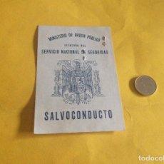 Militaria: SALVOCONDUCTO 1938 VALLADOLID GUERRA CIVIL ESPAÑOLA. Lote 115087523