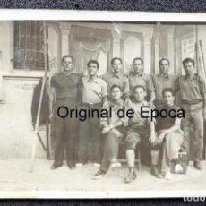 Militaria - (JX-180361)Fotografía ?de reclutas del Ejercito Popular en Figueras , ( Girona ) . - 115099795