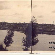 Militaria: FOTO PANORAMICA RIO GUADALQUIVIR SEVILLA ENTRADA BUQUES ALEMANES 1937 GUERRA CIVIL. Lote 115392203