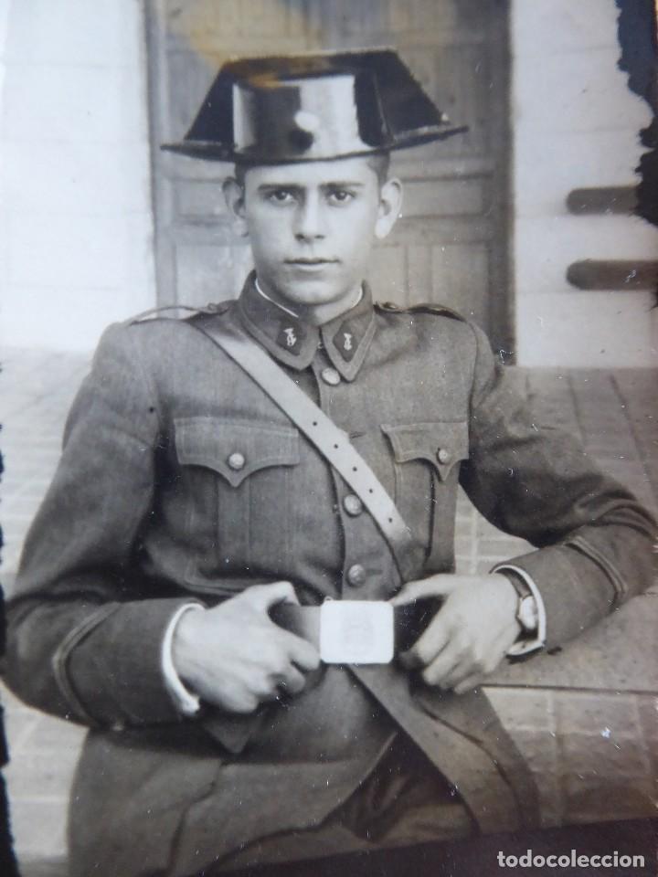 FOTOGRAFÍA JOVEN GUARDIA. VALDEMORO 1946 (Militar - Fotografía Militar - Otros)