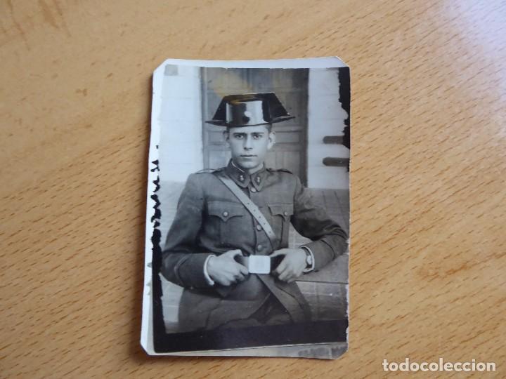 Militaria: Fotografía Joven Guardia. Valdemoro 1946 - Foto 2 - 115616495