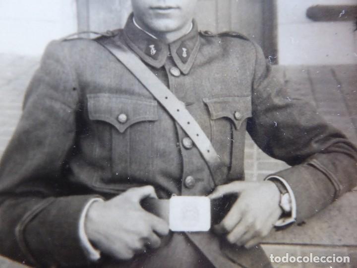 Militaria: Fotografía Joven Guardia. Valdemoro 1946 - Foto 3 - 115616495