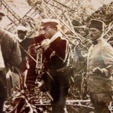 Militaria: STEREOSCOPICA DE ZEPPELIN ACCIDENTADO E INSPECCIONADO POR TROPAS FRANCESAS ZEPELIN. Lote 115970771