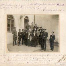 Militaria: LARACHE. AUTORIDADES COMANDANTE DE ESTADO MAYOR, CAPITAN, JUEZ, CONSUL DE ESPAÑA, ETC… 1918. MILITAR. Lote 116207051