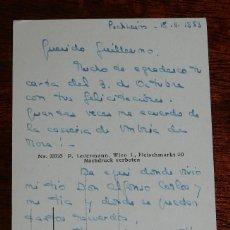 Militaria: POSTAL CARLISTA, CARLISMO, ESCRITA POR FRANCISCA MARIA DE BORBON EN EL EXILIO EN PUCHHEIM CIRCULADA . Lote 116382755