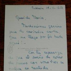 Militaria: POSTAL CARLISTA, CARLISMO, ESCRITA POR FRANCISCA MARIA DE BORBON EN EL EXILIO EN PUCHHEIM CIRCULADA . Lote 116382847