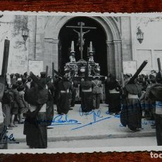 Militaria: FOTO POSTAL CARLISTA, CRISTO DEL CALVARIO, SEMANA SANTAL SEVILLA, CON FIRMA DE ALFONSO CARLOS DE BOR. Lote 116385191