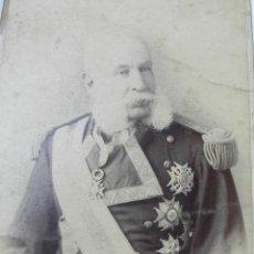 Militaria: FOTOGRAFIA ALBUMINA DE EDUARDO BUTLER Y ANGUITA, VICEALMIRANTE DE LA ARMADA (1898-04-13), SENADOR PO. Lote 116420771