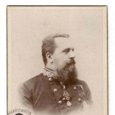 Militaria: FOTO CABINET. CARLOS VII. DEDICA A LA MARQUESA DE VILLADARIAS FIRMA ORIGINAL 3 DÍAS ANTES DE MORIR. Lote 116561987