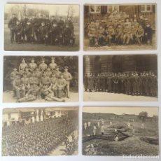 Militaria: LOTE DE 7 FOTOGRAFIAS EN TARJETAS POSTALES DE GRUPOS DE SOLDADOS * 1ª GUERRA MUNDIAL. Lote 116627351