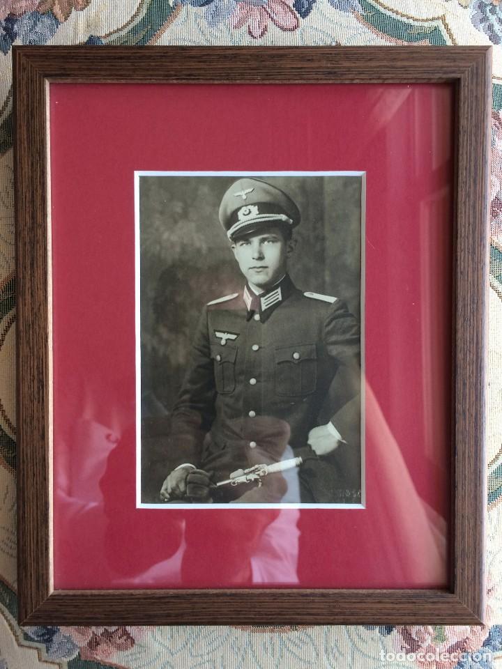Militaria: Fotografía Postal Oficial Alemán. II Guerra Mundial. Alemania. III Reich. Enmarcada. Wehrmacht - Foto 2 - 116916695