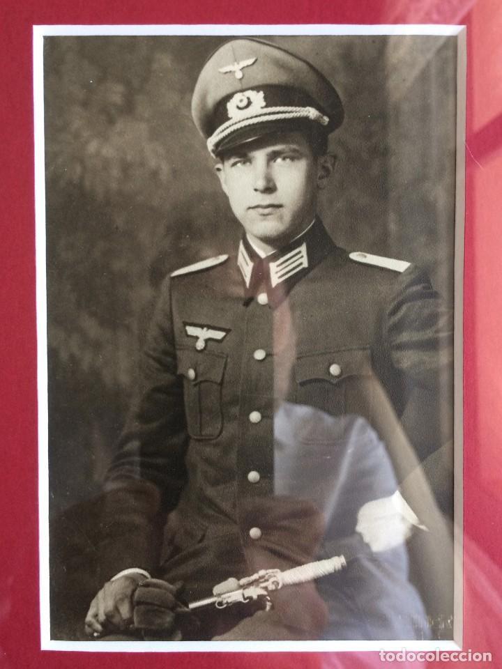 Militaria: Fotografía Postal Oficial Alemán. II Guerra Mundial. Alemania. III Reich. Enmarcada. Wehrmacht - Foto 3 - 116916695