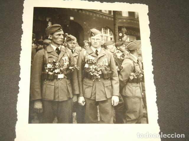 Militaria: HAMBURGO ALEMANIA 4 FOTOGRAFIAS REGRESO LEGION CONDOR POR SARGENTO ALEMAN GOERING Y SPERRLE - Foto 3 - 117015895
