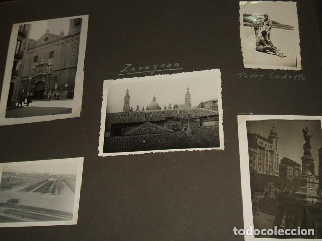 ZARAGOZA 9 FOTOGRAFIAS POR SARGENTO ALEMAN DE LA LEGION CONDOR GUERRA CIVIL (Militar - Fotografía Militar - Guerra Civil Española)